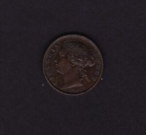 1877 Mauritius 1 Cent Coin