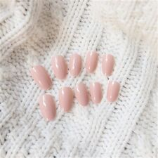 24Pcs/Set Natural Nude Color Short False Nails / Stickers Nail Tip Full Cover