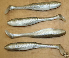 "5"" Swim Minnow Shad Swimbait Trailer for A Rig 50 pack bulk Plastic Worm"