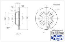 Disc Brake Rotor-SS Rear Magneti Marelli 1AMVR20291 fits 08-09 Chevrolet Cobalt
