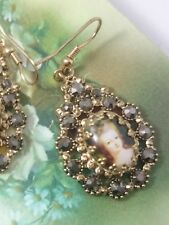 STUNNING MARIE ANTOINETTE COCKTAIL VICTORIAN INSPIRED DROP CRYSTAL EARRINGS