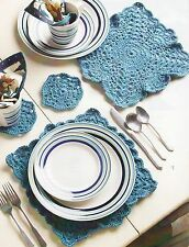 SIMPLE Place Setting/Decor/Crochet Pattern Instructions