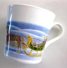EUC 1983 CORNING WARE WHITE COFFEE CUP COUNTRY MEMORIES – CHRISTMAS HOME/ SLEIGH