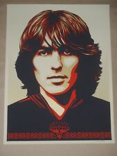 Poster For George Harrison Obey Giant signed print Shepard Fairey Beatles