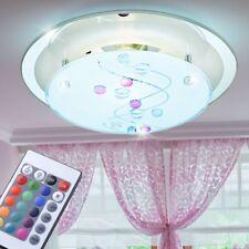 RGB LED couloir plafonnier verre dépoli pierres décoratives dimmable à distance