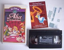 Disney Masterpiece ALICE IN WONDERLAND Family VIDEO VHS 1998 EXCELLENT Tested
