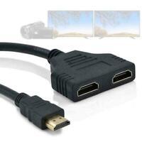HDMI-Anschluss Stecker zu Buchse 1 Eingang2 Ausgang Splitter Kabeladapter T3K1