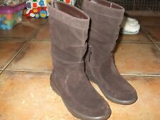 New Ladies Leather Suede Fitflop Loaff Slouchy Boots style 596092 Size 5/eu38