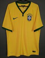 MEN'S NIKE BRAZIL BRASIL NATIONAL 2014/2016 FOOTBALL SOCCER SHIRT JERSEY SIZE L