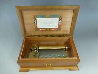 Vintage Reuge Music Box 72  Key Lara's Theme Edition Italian Inlay Wooden Case