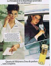 PUBLICITE ADVERTISING 045 1979 MOLYNEUX eau de parfum Quartz 1