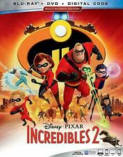 The Incredibles 2 (Blu-ray+Dvd/Hd Digital) Slipcover-New-Free Shipping