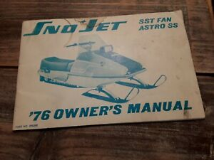 Vintage 1976 Sno Jet SST Fan Astro SS Snowmobile english / French Owners Manual