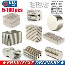 5~100 PCS Super Strong N35 Round Disc Neodymium Mini Fridge Magnets Rare Earth