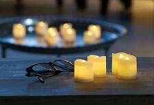 LED flammenlose elektrische Teelichter Teelicht Mini Kerzen 4, 8, 12 Stck.