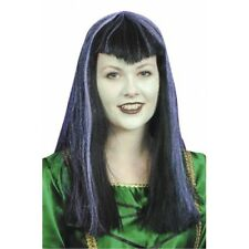 Vampiress Wig with Purple Streaks, Dracula's Mistress, Halloween,Witches 1414612