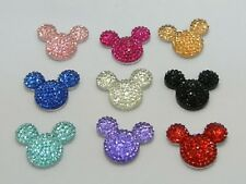 20 Mixed Color Flatback Rhinestone Mouse Gem Beads 24X20mm Flat back Resin