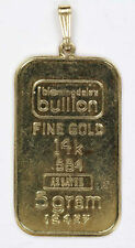 Bloomingdales Bullion 5 Gram 14 Karat Gold Bar with Bale