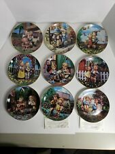 Danbury Mint By Hummel Collectors Plates Set Of 9
