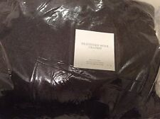 Restoration Hardware Heathered Wool Drapery 100x84L Charcoal NWT