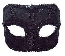 Máscaras y caretas color principal negro de terciopelo para disfraces