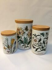 Vintage Portmeirion The Botanic Garden Canisters Set of Three