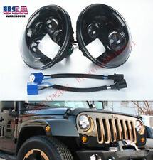 "2X 7"" LED Projector Round Headlights Black Housing Low/High H6024 H6012 (1 Pair)"