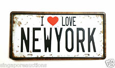 COLLECTIBLE VINTAGE THEMED SIGN/LICENCE PLATE: I LOVE (HEART) NEW YORK LAST ONE