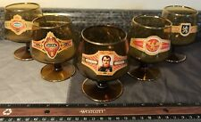 Vtg Amber/Brown GLASS Brandy/Cognac Snifter Cigar Uiltje/Willem II/Napoleon Lot