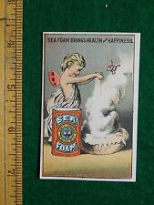 1870s-80s Sea Foam Fairy Cherub Fantasy Lovely Victorian Trade Card F16