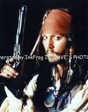 NICE SIGNED JOHNNY DEPP 8X10 COLOR RP PHOTO w/coa Free Shipping