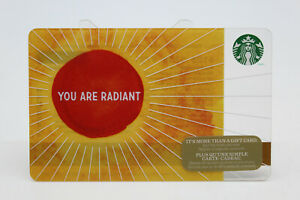 Starbucks Coffee 2014 Gift Card You are Radiant Holiday Zero Balance No Value