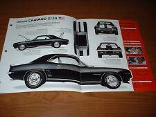 ★1969 CHEVY CAMARO Z/28 RS ORIGINAL IMP BROCHURE SPEC 69 68 67 Z28 SS COPO YENKO