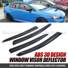 MADE FOR 12-17 SUBARU WRX STI SEDAN WINDOW VISOR WIND DEFLECTOR RAIN GUARD TINT