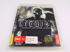 Mint Disc Playstation 3 Ps3 The Chronicles of Riddick Assault on Dark Athena