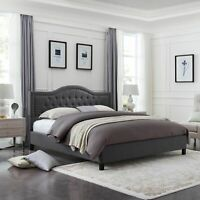 Ronan Fully-Upholstered Traditional Bed Frame