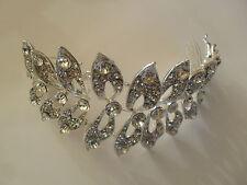 Diamante Crystal Wrap Wedding Bridal Head Piece Side Hair Comb Headband Tiara
