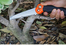 "Mini Pruning Pocket Saw 10.5"" Blade Folding Camping Emergency Wood Knife Kit BOB"