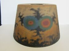 RARE Antique Signed Jefferson Reverse Painted Abstract Forest Lamp Shade