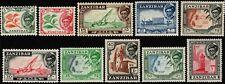 Zanzibar 1957 Ships, Boats, Buildings to 1sh (10), SG358-367 Hinged Mint