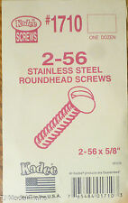 Kadee #1710 Stainless Steel 2-56 Roundhead Screws (12 in pkg)