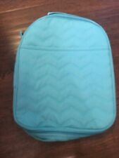 Thirty One Lunch Box Chill-Icious Thermal Tote Aqua School Bag Zipper - New