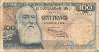Belgian Congo 100  Francs 1957 P 33b - Free to Combine Low Shipping