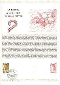 Briefmarke 1er Tag Auf Philatelistische Dokument - La Nature A 6, 8, 1000 Pfoten
