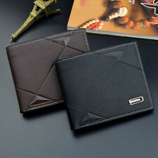 Fashion Men's Leather Wallet Pocket Bifold Purse Clutch ID Credit Card Billfold