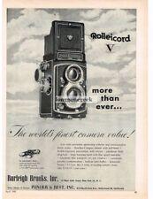 1955 Rolleicord V TLR Camera Vtg Print Ad