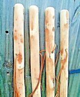 FARMER WOODEN WALKING STICK CANE SOLID STURDY RUSTIC CHESTNUT WOOD STICK 47 INCH