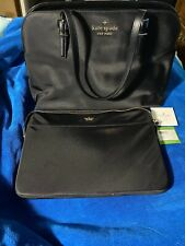 Black Kate Spade Purse With Lap Top Case With Dust Bag $298