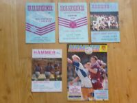 West Ham United v Luton Town collection of football match programmes x 5