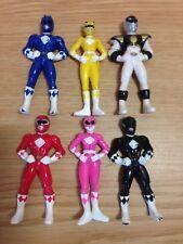 "Bundle of 6 Vintage Mini Power Ranger Action Figures (2.5"" Tall) VGC Saban 1995"